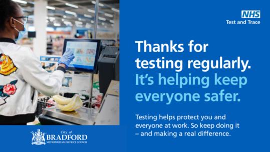 Retail working regular covid testing