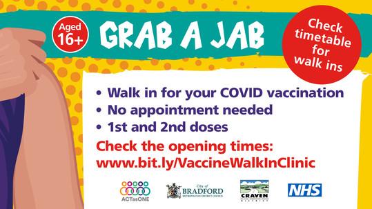 Walk in Covid vaccination clincs