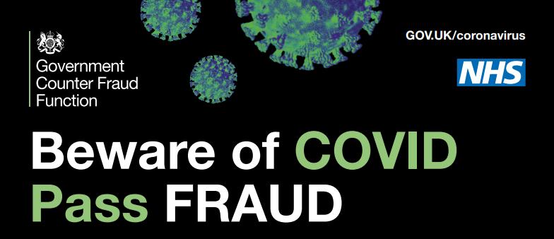 Covid NHS pass fraud