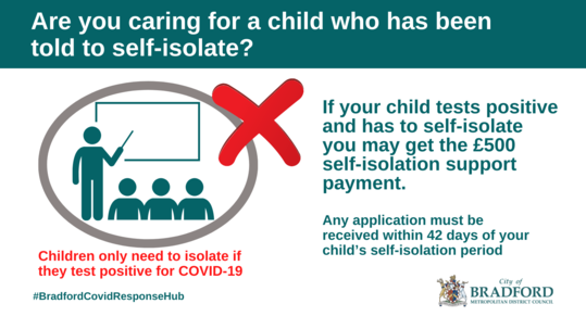 Self Isolating school child