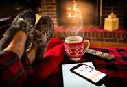 Cosy up by the fire with your tablet or phone