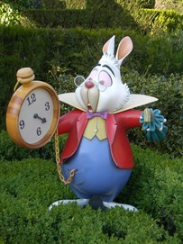 the White Rabbit is late