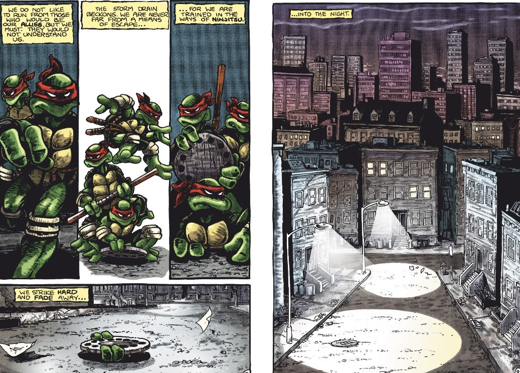 inside Teenage Mutant /ninja Turtles comic book