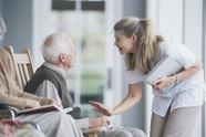 Senior in nursing home