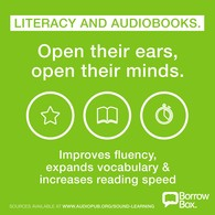 BorrowBox promotion of audiobooks for improving children's literacy