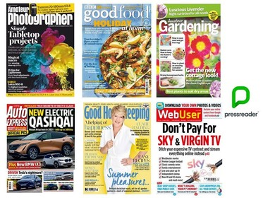 Emagazines available on PressReader, formerly on RBdigital