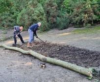 New planting area being established at Savernake Park