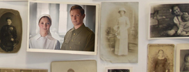 image of old family photos in frames