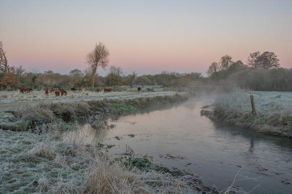 Winter scene at Shepherd Meadows, by Derek Morgan