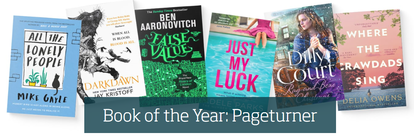 Photograph of book covers of shortlisted titles for Pageturner Book of the Year 2021