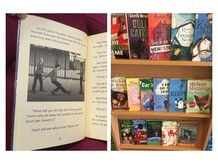 library display of dyslexia friendly books