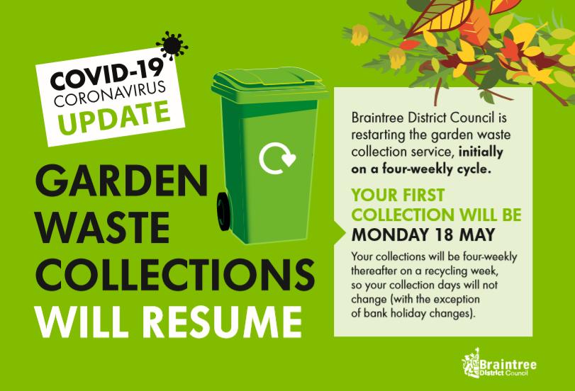 garden waste postcard