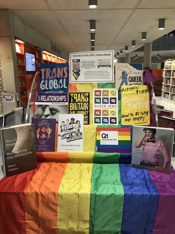 LGBT History Month Wembley Library Display