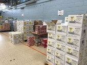 Food waiting to be packed at the Bridge Park hub