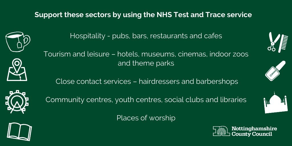 Provide information for all members of your group when visiting cafes, restaurants, pubs and other venues