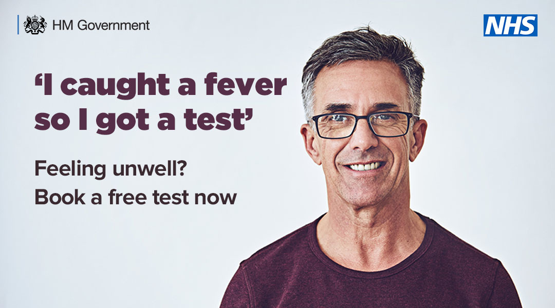 A man with a fever who got tested