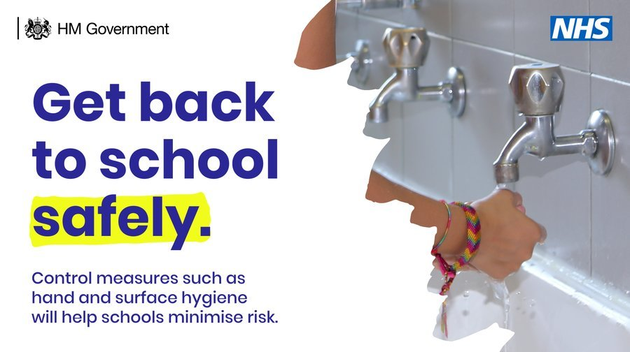 Get back to school safely someone washing their hands