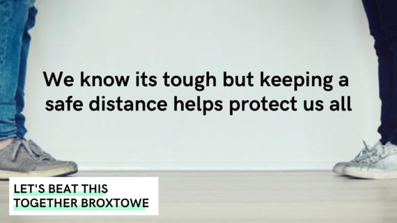 We know its tough but keeping a safe distance helps protect us all