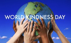 World Kindness Day - Hands touching the globe