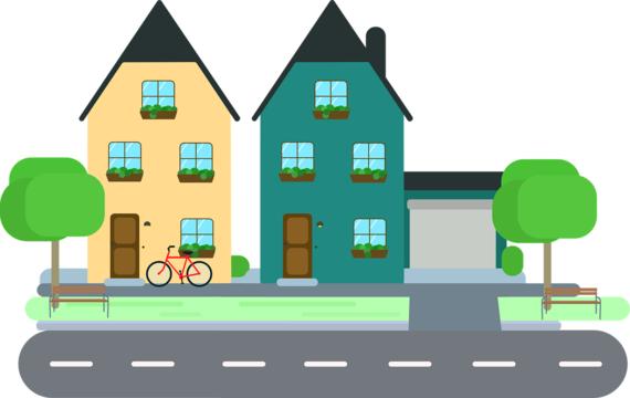 Houses on a street