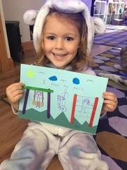 Mia Jones with her winning drawing