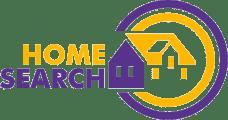 Homesearch Logo - Orange and Purple House
