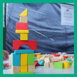 A house made out of building blocks at eastwood playday 2019