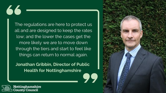 Quote from Nottinghamshire Public Health Director Jonathan Gribbin
