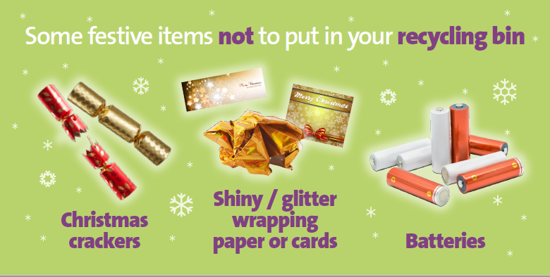 Do not put these items in the recycle bin