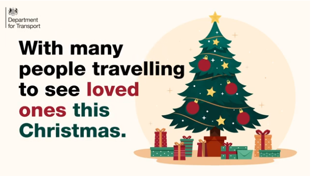 With many people travelling to see loved ones this Christmas image of Christmas tree and presents