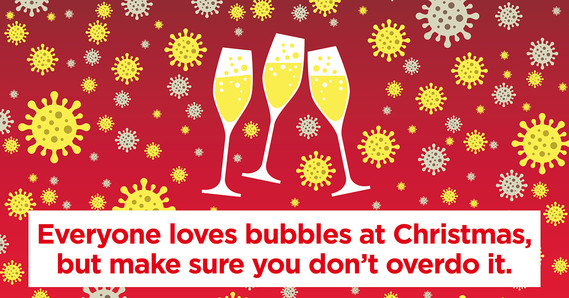 Everyone loves bubbles at Christmas, but make sure you don't overdo it