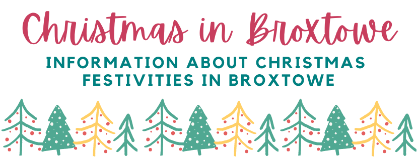 Christmas in Broxtowe with festive Christmas trees