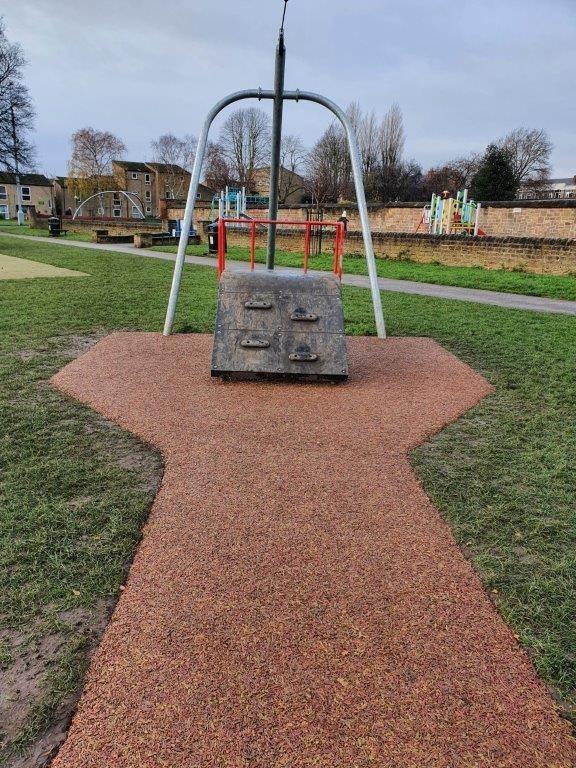 Zip wire in park