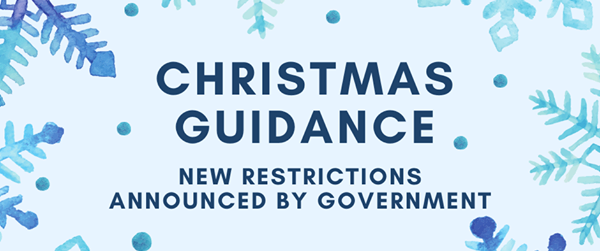 New Christmas Guidance on blue background with snowflakes