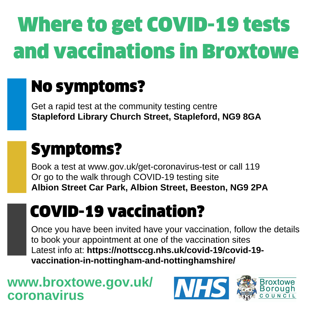 Where to get COVID-19 tests and vaccinations