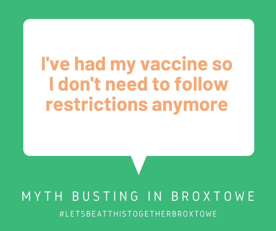 Continue to follow the rules after your vaccine