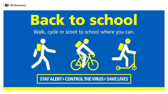 Walk, cycle or scoot to school if you can