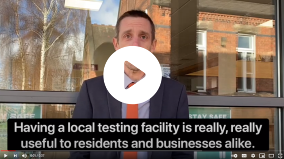 Video of Councillor Tim Hallam talking about Community Testing