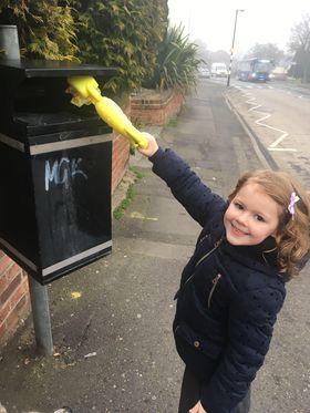 Local resident Mia litter picking