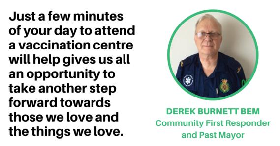 Derek Burnett BEM Community First Aider