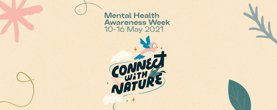 Mental Health awareness week banner - all about nature