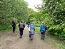 Tenant and activities coordinators walking at Bramcote Park