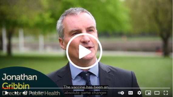 Link to YouTube video from the Nottinghamshire Public Health Director on vaccines
