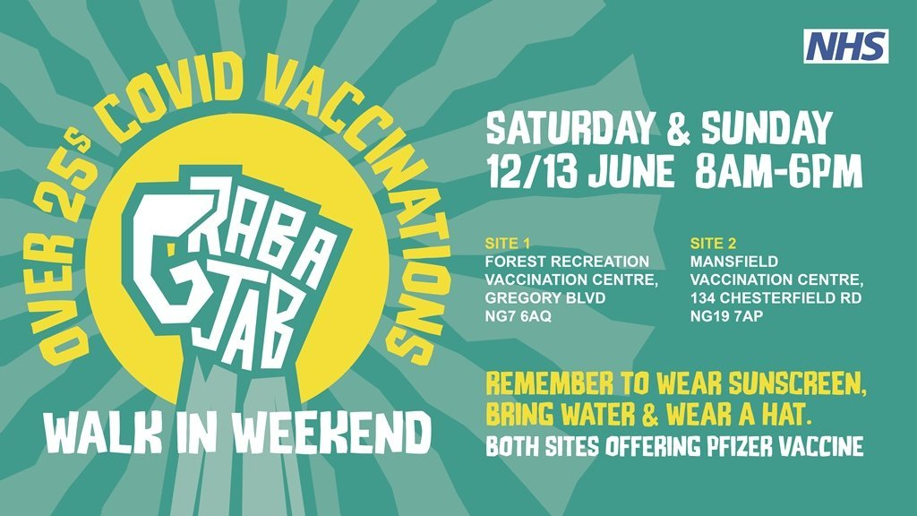Walk in vaccinations available this weekend