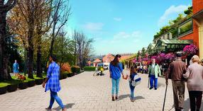 Artist impression of Victoria Street Car Park changes