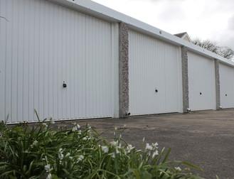 Wheatgrass road garages - white doors