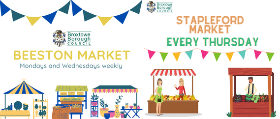 Broxtowe Markets image - stapleford on thursdays and beeston monday and wedesdays