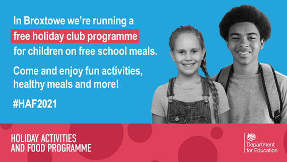 Broxtowe free holidays clubs for children