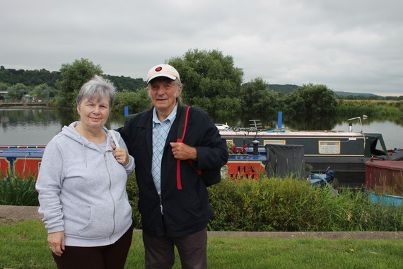 Man and Women standing by the Beeston Marina 2021