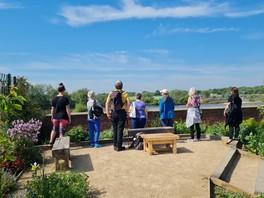 Sunny day walk and talk group at Beeston marina 2021